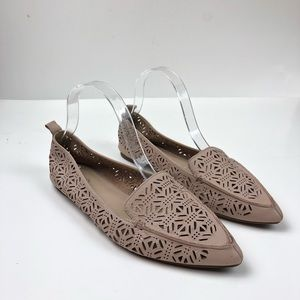 Aldo Onerin Laser Cut Leather Flats Pointed Toe